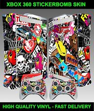 Xbox 360 Console Sticker skin Stickerbomb graphics skin & 2 X Controller Skins