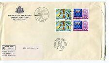 1982 FDC San Marino 100°cassa di risparmio int post RACCOMANDATA First Day Cover