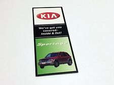 2001 Kia Sportage Accessories Brochure