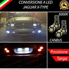 COPPIA LUCI DI POSIZIONE + COPPIA LUCI TARGA 5 LED CANBUS JAGUAR X-TYPE