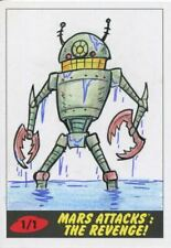 Mars Attacks The Revenge Sketch Card By Eric Kowalick