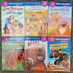 6 READER LOT STEP INTO READING LEVEL 3 READERS BOOKS CHILDREN'S NON FICTION