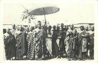 Genuine photo postcard Africa Gold Coast GHANA 1945 native african tribal chief