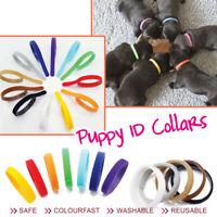 12 Farben Welpen ID Halsbänder Klettband Welpenhalsband für Hunde Katzen Züchter