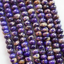 R0073488 Purple Sea Sediment Jasper Rondelle loose bead 15.5 inch 6x3mm