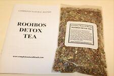 DETOX TEA ROOIBOS organic herbs LIVER CLEANSE slippery elm licorice hibiscus 4oz