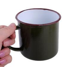 Vert foncé 300ml émail Verre Coupe Tasse Boire Café Bière Vintage Enamel Cup Mug