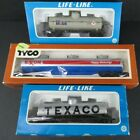TYCO LIFE-LIKE LOT OF 3 TANK CARS - EXXON, TEXACO, MOBILE IN BOXES UNUSED
