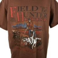 Field Hunter Digest T Shirt Vintage 90s Fishing Hunting Made In USA Size Large
