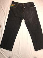 Coogi Australia Rainbow Jeans 44x34 Distressed Baggy Blue Hip Hop Rave