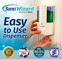 Wall Mount Dispenser for Soap, Gel Sanitizer, Lotion, Shampoo - Sani Wizard