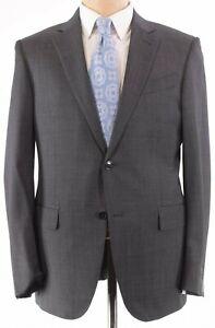 Ermenegildo Zegna NWT Suit Size 54L 44L US Gray/Black Melange Wool Milano $2,995