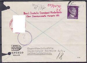 DR Mi Nr. 785 EF Dienstpost Niederlande Zensur Karte Hengelo - Hettelleidelheim