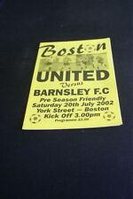 Boston United Football Non-League Fixture Programmes (2000s)