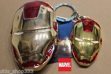 Comic Collectible IRON MAN Belt Buckle and Key chain lot cosplay or just wear :)