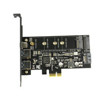 3.0 & Type-c M.2 PCIe GOOD Adapter M2 SSD SATA B Key to PCI-e 3.0 Controller