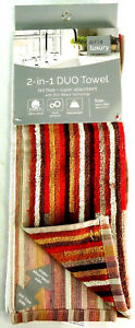 Airia Super Absorbency 2 in 1 Duo Libby Stripe Cotton Kitchen Towel 16 x 28''