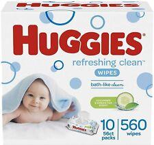 Huggies Natural Care Refreshing Baby Wipes, Scented, 10 Flip-Top Packs (560