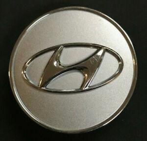 2007-2013 Hyundai Santa Fe Veracruz Sonata Azera Center Cap OEM Silver
