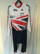 XL adidas skinsuit bike cycling team GB SKY union jack LS TRA