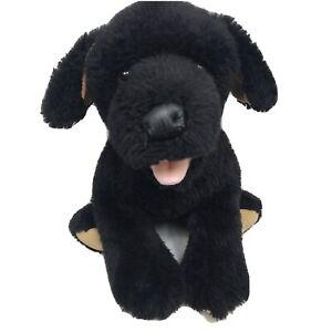 "Build A Bear Black Labrador Puppy Dog 15"" Stuffed Animal Plush Toy BABW"