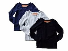 NWT Girl's Gymboree navy blue ivory black long sleeve shirt ~ 6 FREE SHIP