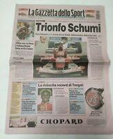 GAZZETTA DELLO SPORT 29 SETTEMBRE 2003 PAUL TERGAT RECORD MONDIALE MARATONA