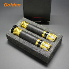 Pair 7/8'' 22mm CNC Motorcycle Steering light Handlebar grip Golden Color