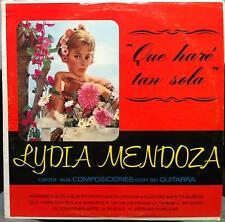 LYDIA MENDOZA con su guitarra LP VG+ AM 8017 Azteca Mono USA Rare Guitar