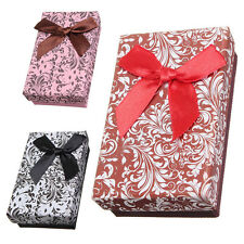 5x Jewellery Gift Boxes Necklace Pendant Bracelet Ring Display Storage Hold D8Y1