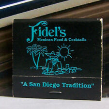 Rare Vintage Matchbook Cover K3 San Diego Carlsbad California Fidel's Mexican