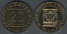 AUSTRIA 20 Schilling 2000 First Postage Stamp BU