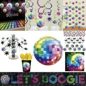 Disco Party Decoration 70er 80er Years Partyzubehoer Set Motto Disco
