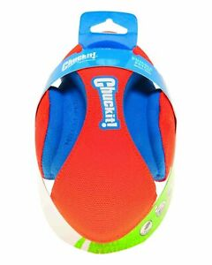 Chuckit! FUMBLE FETCH Football Shaped Durable Canvas Rubber Dog Toy 7-in SMALL