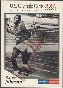Rafer Johnson (1934-2020) 1991 Impel Autographed US Olympics Decathlon Gold Card