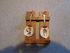 Vintage 1983 Seoul Olympic Games Spoon Set With Wall Rack