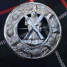 """Nuevo Kilt Highland FLY Broche Escocés St Andrew acabado en plata 3""""/ Celta Pin"""
