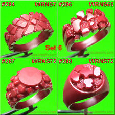 # SET 6  NUGGET RINGS SETTING 8 WAX  PATTERNS FOR CASTING JEWELRY MOLDS