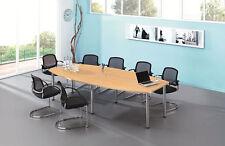 Konferenztisch mit Chromfüßen, Dekor Ahorn, 2800 x 1300 mm   Besprechungstisch