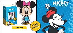 Chibi Coin Disney Minnie Mouse 1oz Silver coin 2000 Mintage Limited - IN STOCK