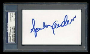 SPARKY ANDERSON SIGNED MINT INDEX CARD PSA/DNA AUTOGRAPH HOF TIGERS REDS WSC