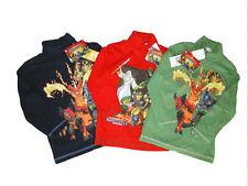 Jungen-T-Shirts, - Polos & -Hemden aus 100% Baumwolle mit Rollkragen und Motiv