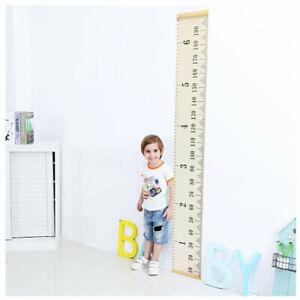 Children Kids Growth Height Measure Chart Wooden Ruler Room Decor Wall Hanging