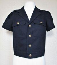 Ralph Lauren Rugby Jacket Size 4 Women navy blue wool short sleeve