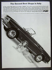 1965 Fiat 1500 Spider Convertible bikini woman photo vintage print Ad