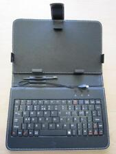 """MID ANDROID TABLET PC 7"""" 193mmx120mm Keyboard Black PU Leather Carry Folder Case"""