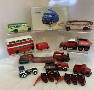 Small lot of Ten Die Cast Vehicles - Buses and Trucks (D4)