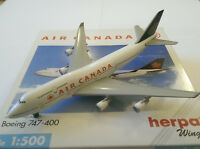 Herpa Wings Air Canada Boeing 747-400 1:500 Scale Model 500739