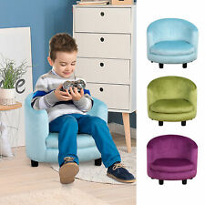 Cozy Children Sofa Couch Sturdy Wooden Armrest Seat Chair Kids
