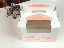 """6"""" Window Cake boxes round Cake and pie Bakery boxes 8"""" x 8""""x 6""""( pack of 3)"""